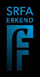 Logo van SRFA behorende bij de website van A.M. Reichwein-administratie